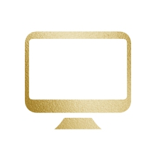 gold computer icon