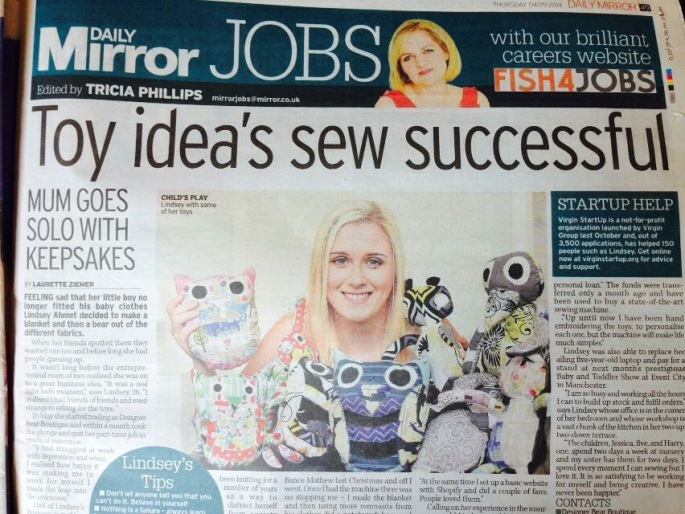 Daily Mirror Lindsey Ahmet Feature image