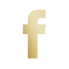 Gold facebook F icon